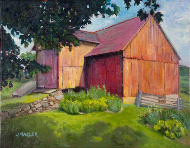 Barn on Iron Hill 14 x 12