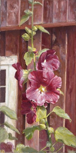 Debbie_s-Hollyhocks-web