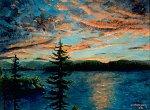 Coucher de soleil, la Grande Baie