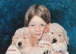 Maggie et ses deux chiens