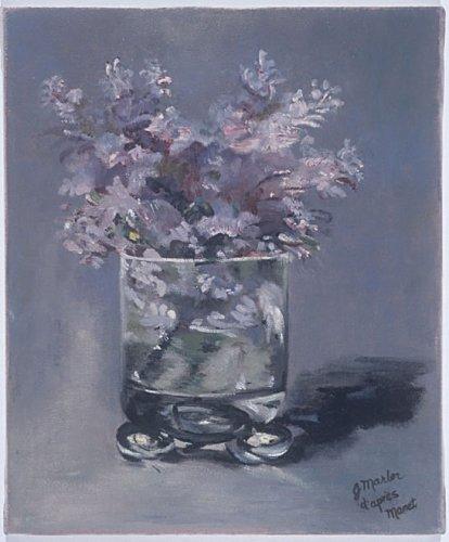 Lilacs_dapres Manet 10x12