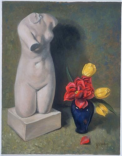 Nude-with-Flowers-14x18